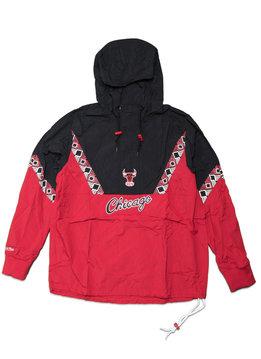 """Mitchell & Ness Chicago Bulls Half Zip Anorak """"Red/Black"""""""