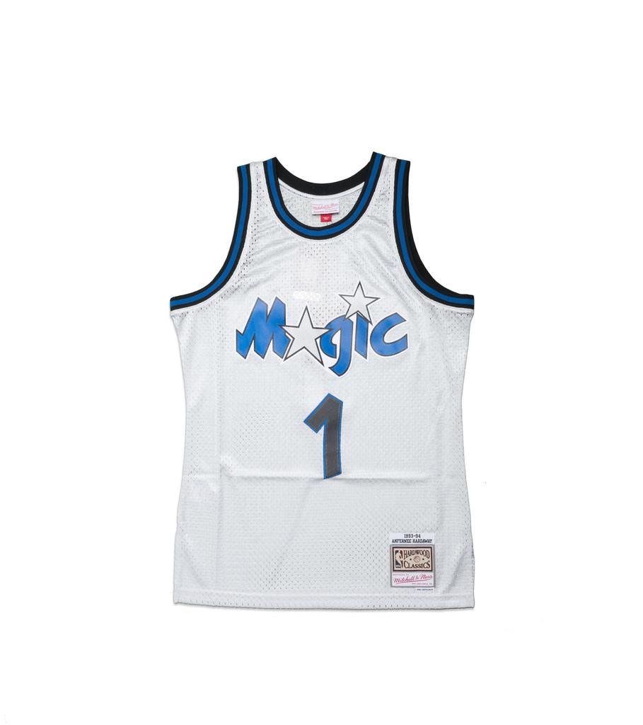 "Orlando Magic '93-'94 P. Hardaway Swingman Jersey ""Platinum""-1"