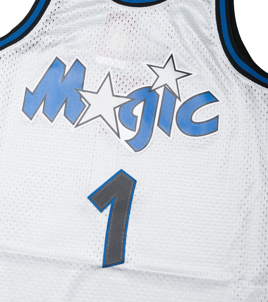 "Orlando Magic '93-'94 P. Hardaway Swingman Jersey ""Platinum""-2"
