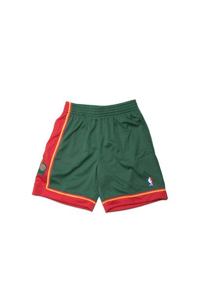 "Seattle Supersonics '95-'96 Swingman Short ""Green/Red"""