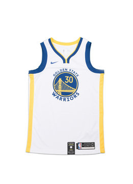 "Nike S. Curry Association Edition '19 Swingman Jersey ""White/Amarillo"""