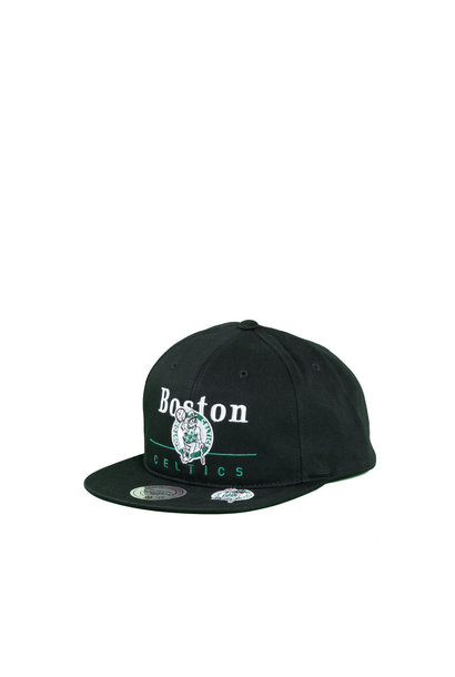 "Boston Celtics Double Double Snapback ""Black"""
