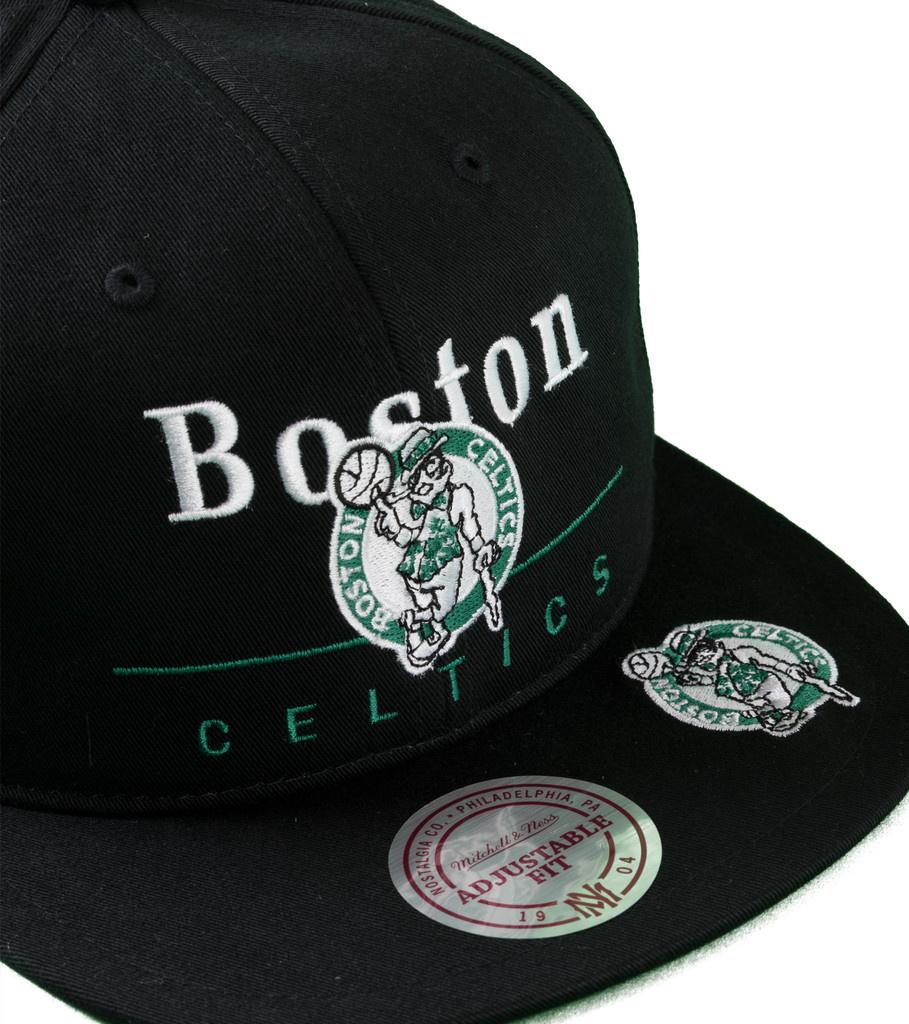 "Boston Celtics Double Double Snapback ""Black""-3"