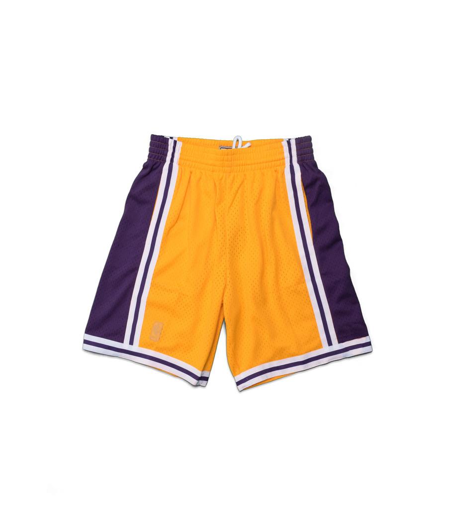 """Mitchell & Ness LA Lakers '96-'97 Swingman Shorts """"Yellow"""""""