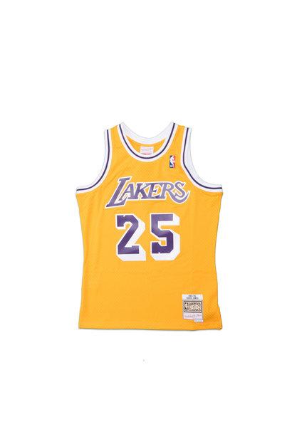 "LA Lakers '95-'95 E. Jones Swingman Jersey ""Yellow"""
