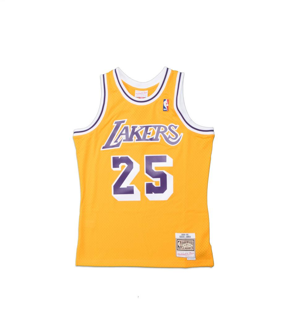 """Mitchell & Ness LA Lakers '95-'95 E. Jones Swingman Jersey """"Yellow"""""""