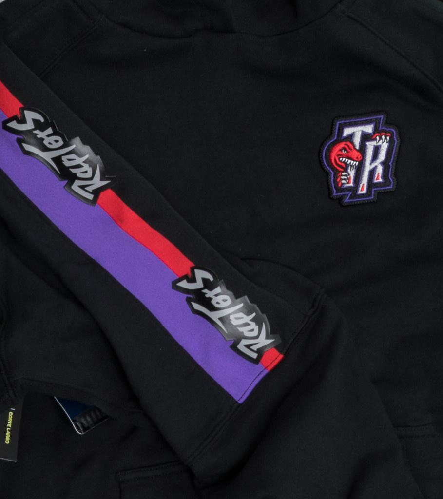 "Toronto Raptors Classic Edition '19 Courtside Hoodie ""Black/Field Purple""-2"