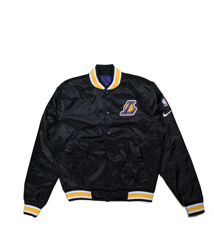 "Nike LA Lakers Courtside Quilted Jacket ""Black/Field Purple"""