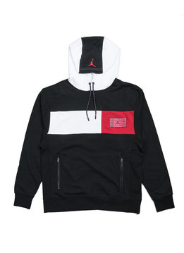 "Air Jordan XI Hoodie ""Black/White/Gym Red"""