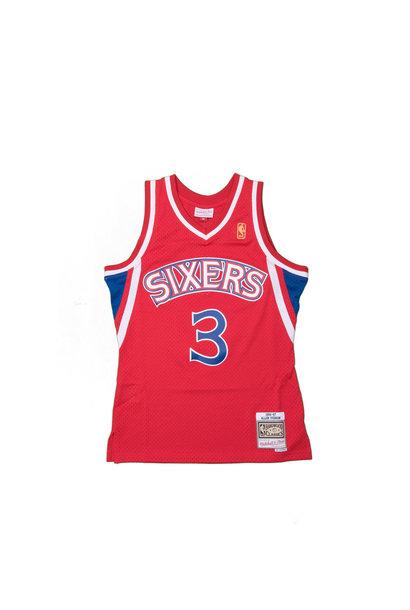 """Philadelphia 76ers '96 - '97 A. Iverson Swingman Jersey """"Red"""""""