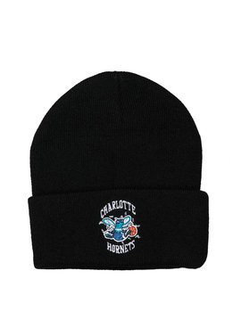 "Mitchell & Ness Charlotte Hornets Team Logo Cuffed Beanie ""Black"""