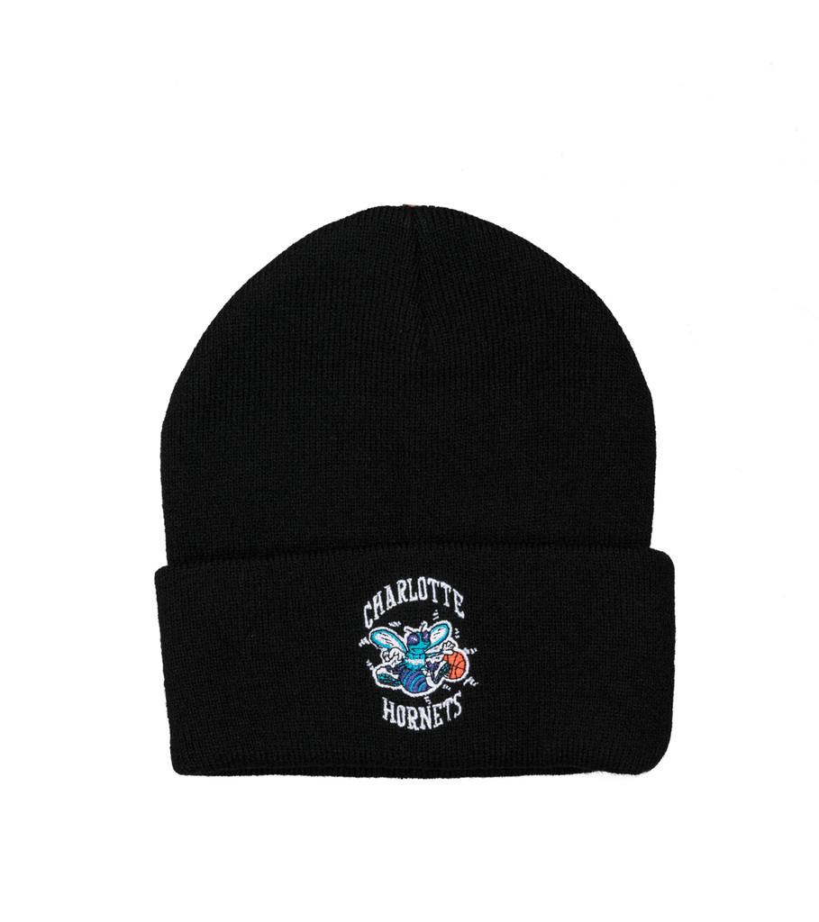 """Charlotte Hornets Team Logo Cuffed Beanie """"Black""""-1"""