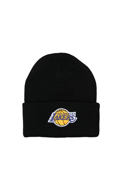 "LA Lakers Team Logo Cuffed Beanie ""Black"""
