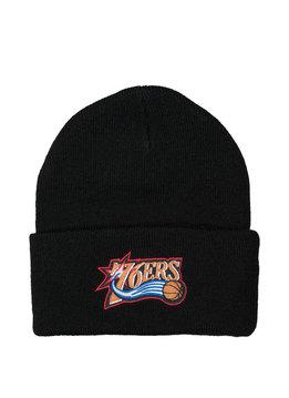 "Mitchell & Ness Philadelphia 76ers Team Logo Cuffed Beanie ""Black"""