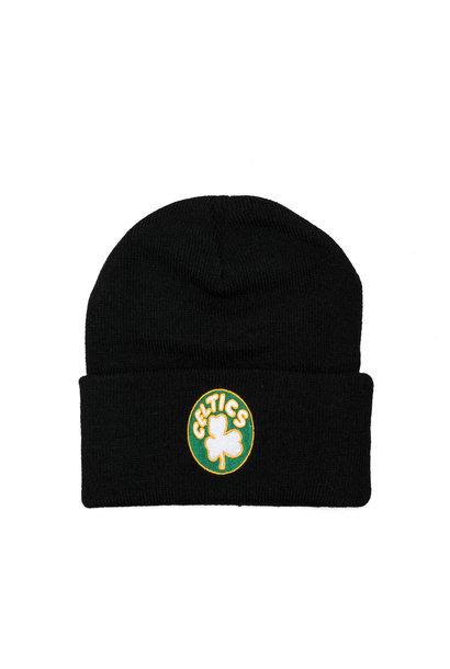 "Boston Celtics Team Logo Cuffed Beanie ""Black"""