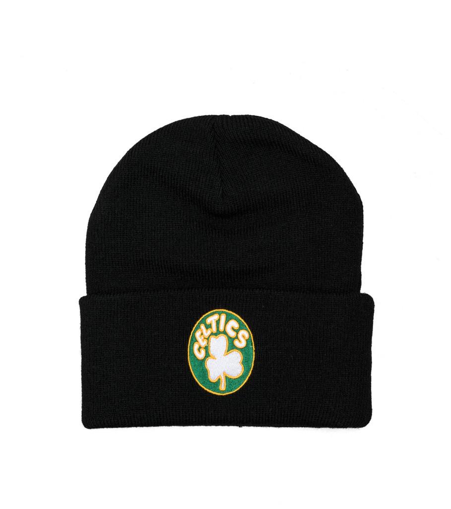 "Boston Celtics Team Logo Cuffed Beanie ""Black""-1"