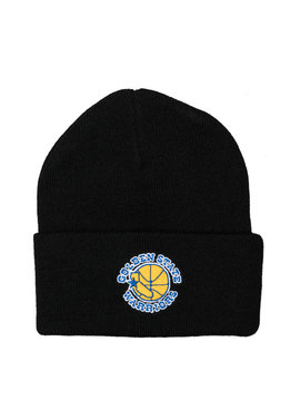 "Mitchell & Ness GS Warriors Team Logo Cuffed Beanie ""Black"""