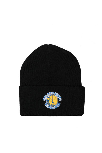 "GS Warriors Team Logo Cuffed Beanie ""Black"""