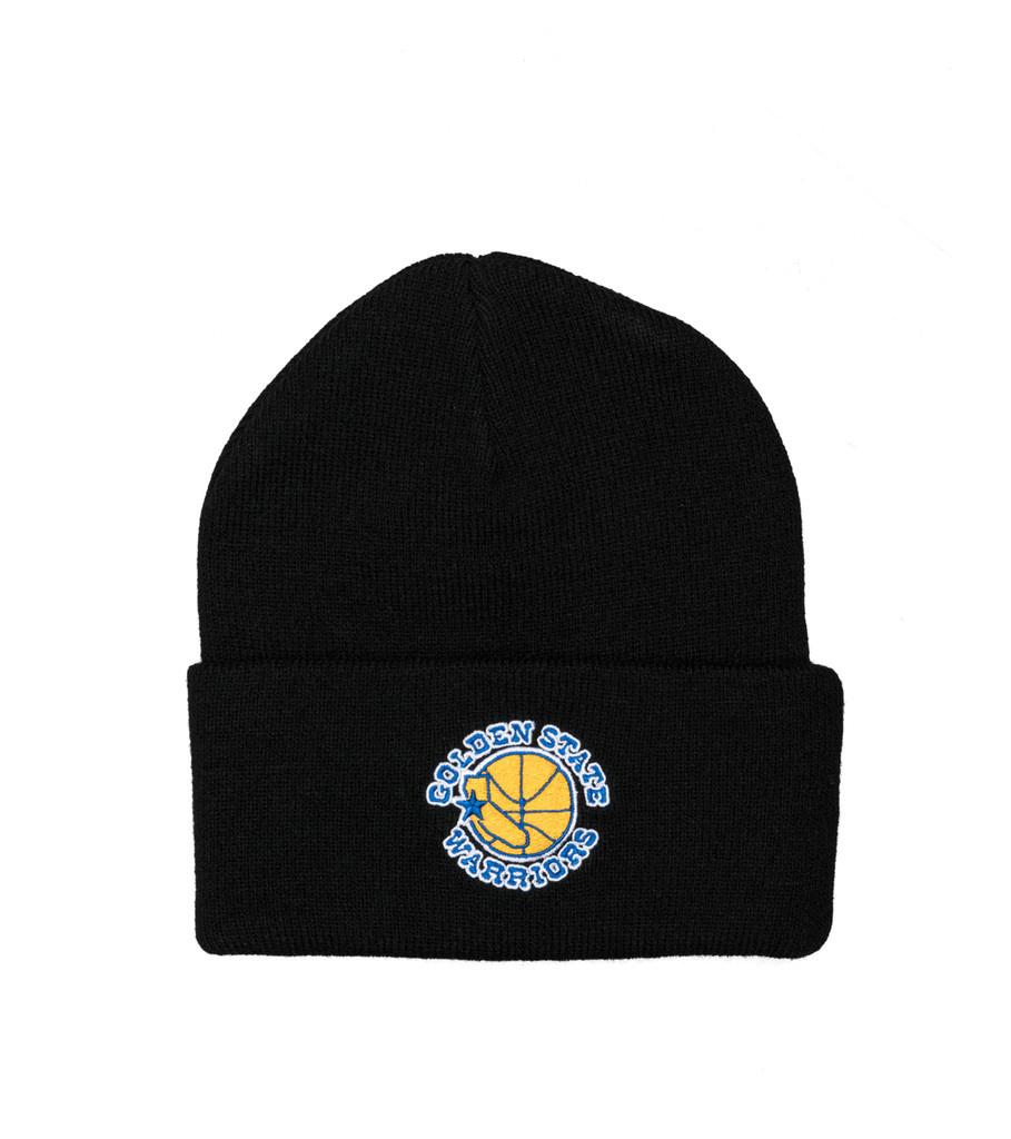 """GS Warriors Team Logo Cuffed Beanie """"Black""""-1"""