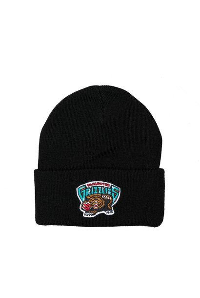 """Vancouver Grizzlies Team Logo Cuffed Beanie """"Black"""""""