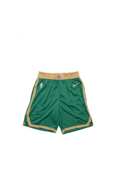 "Boston Celtics City Edition '19 Swingman Short ""Clover/Club Gold"""