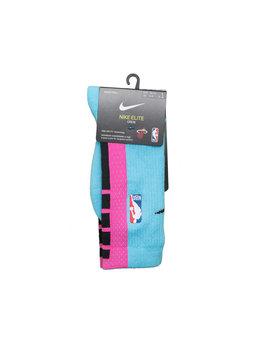 "Nike Miami Heat City Edition '19 Crew Socks ""Blue Gale/Laser Fuchsia"""