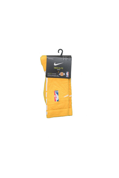 "LA Lakers City Edition '19 Crew Socks ""Amarillo/White"""