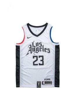 "Nike L. Williams City Edition '19 Swingman Jersey ""White/Black"""
