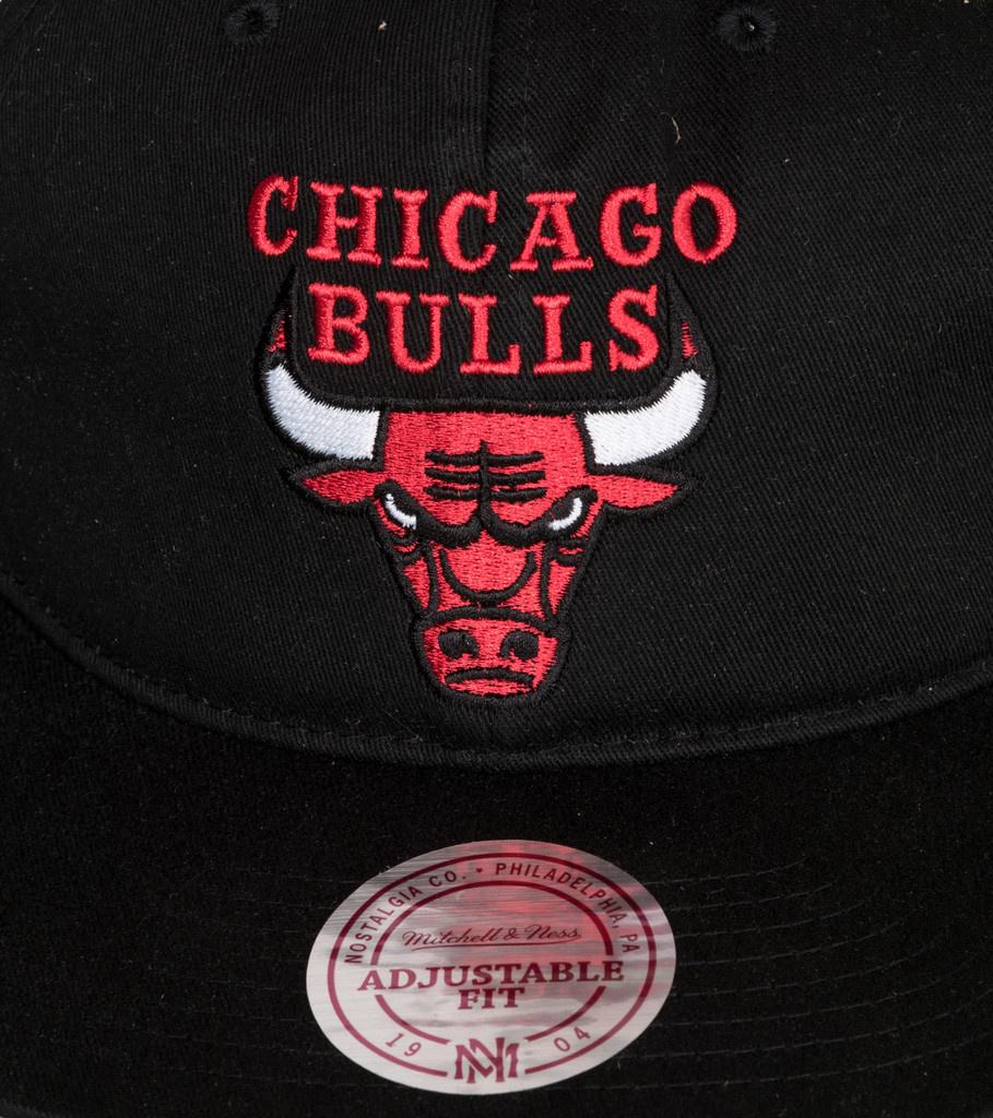 """Chicago Bulls Deadstock Throwback Snapback """"Black""""-3"""