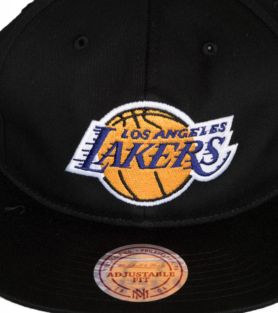 "LA Lakers Deadstock Throwback Snapback ""Black""-3"