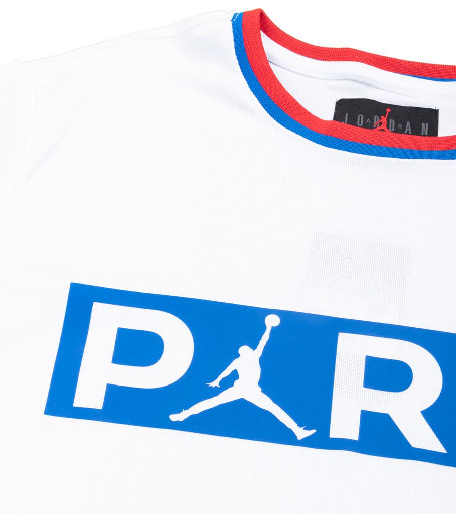 "PSG Jumpman Polyester Replica Tee ""White/Hyper Cobalt""-2"