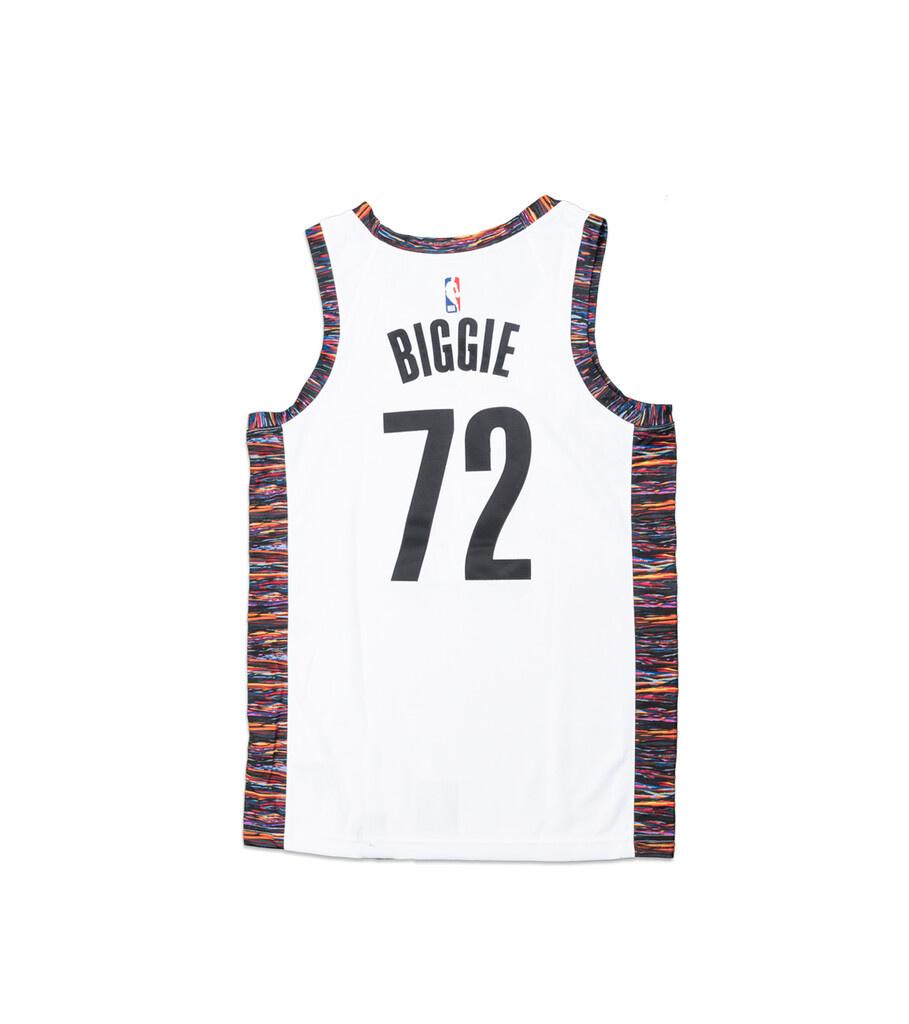"Brooklyn Nets Biggie City Edition '19 Jersey ""White""-3"