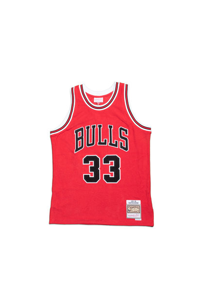 "Chicago Bulls '97-'98 S. Pippen Fleece Jersey ""Red"""