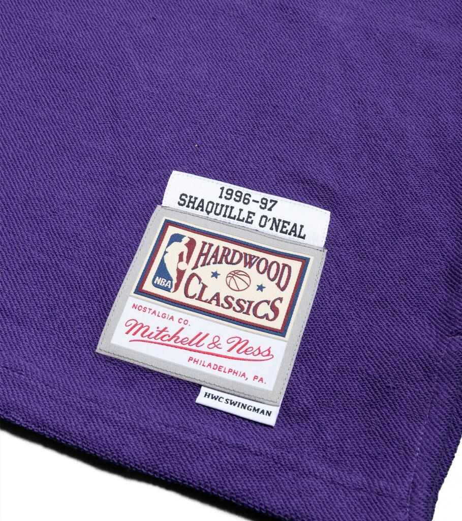"""LA Lakers '96-'97 S. O'Neal Fleece Jersey """"Purple""""-2"""