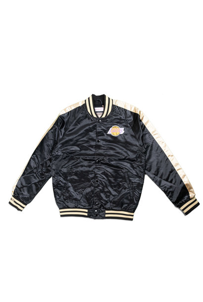 "LA Lakers Satin Jacket ""Black/Gold"""