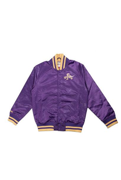 "Toronto Raptors Satin Jacket ""Purple/Gold"""