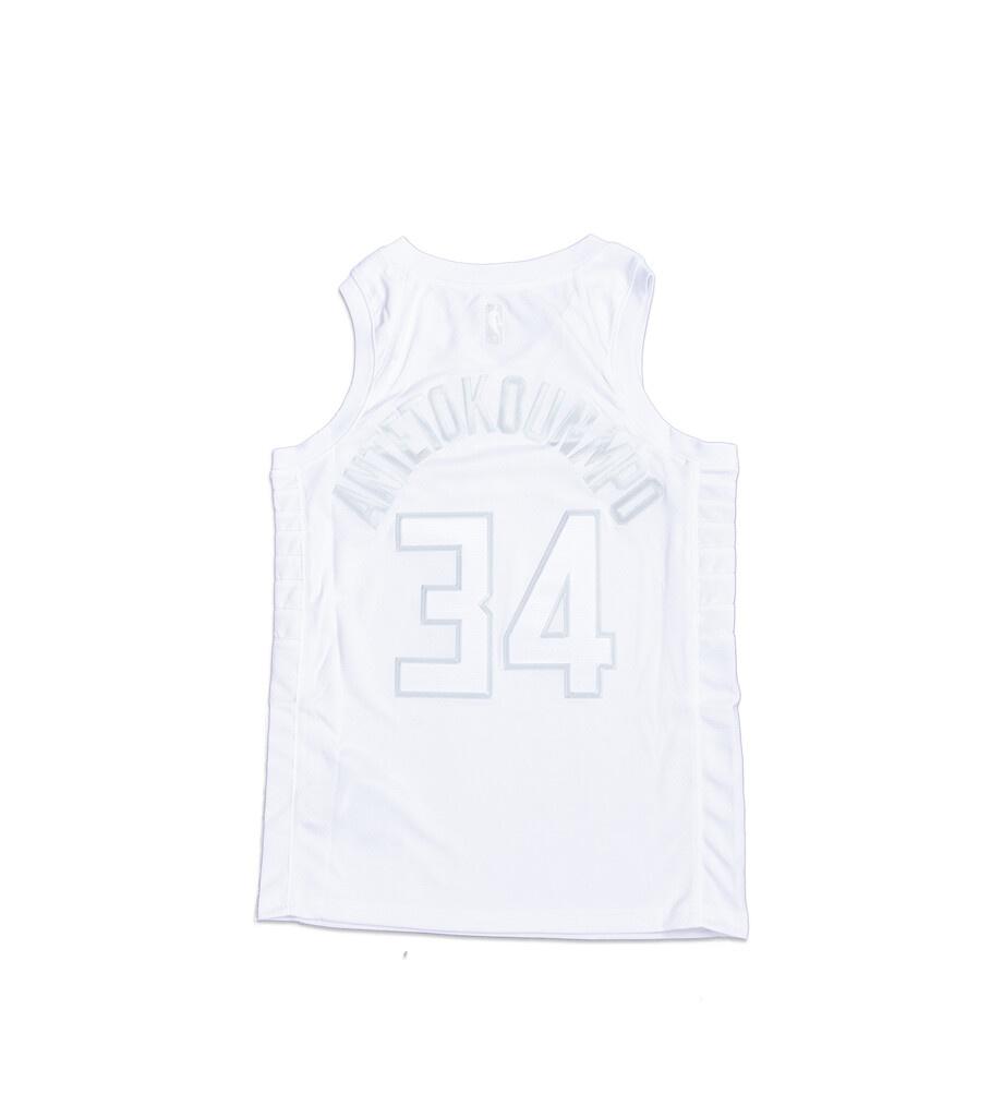 """G. Antetokounmpo MVP '20 Jersey  """"White""""-4"""
