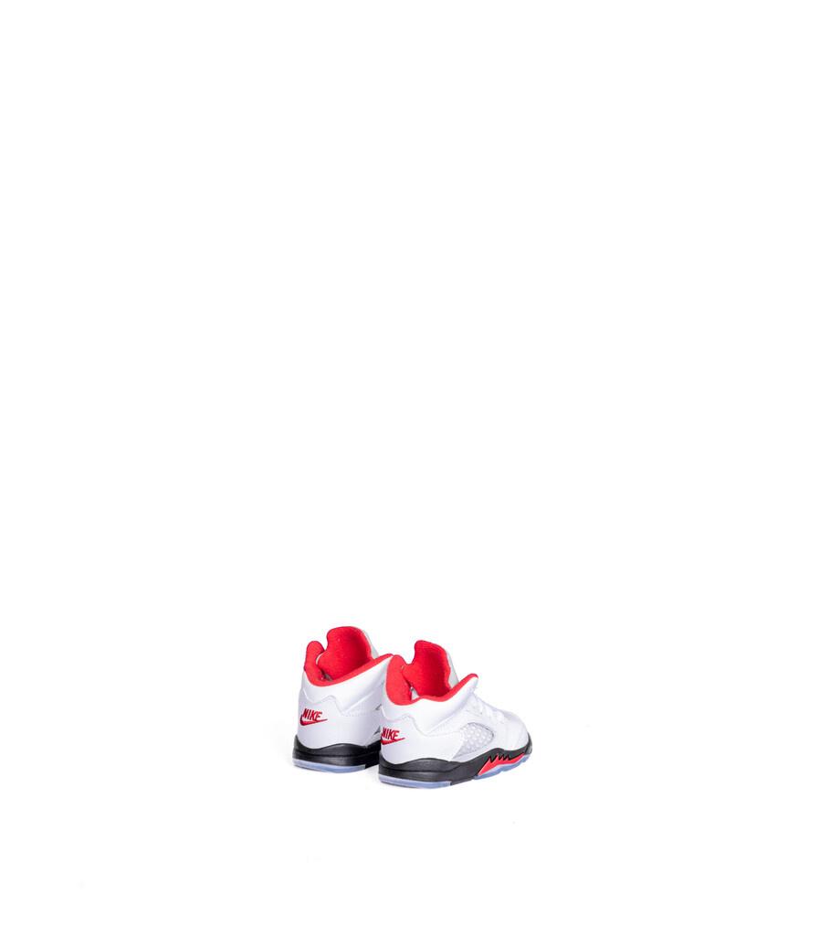 """5 OG Retro (TD) """"True White/Fire Red""""-2"""