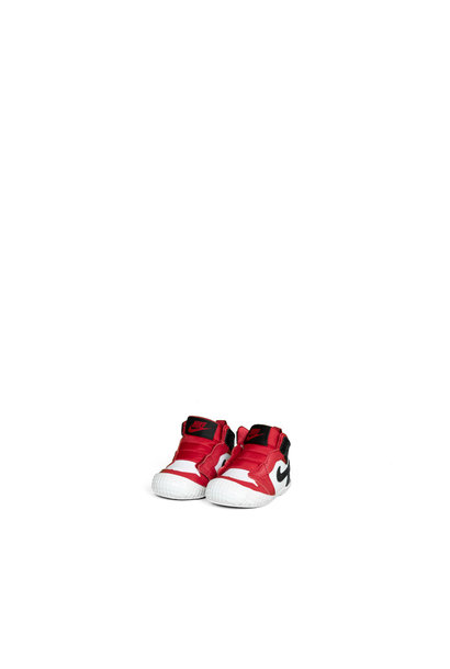 "1 Crib Bootie (TD)  ""Gym Red/Black"""