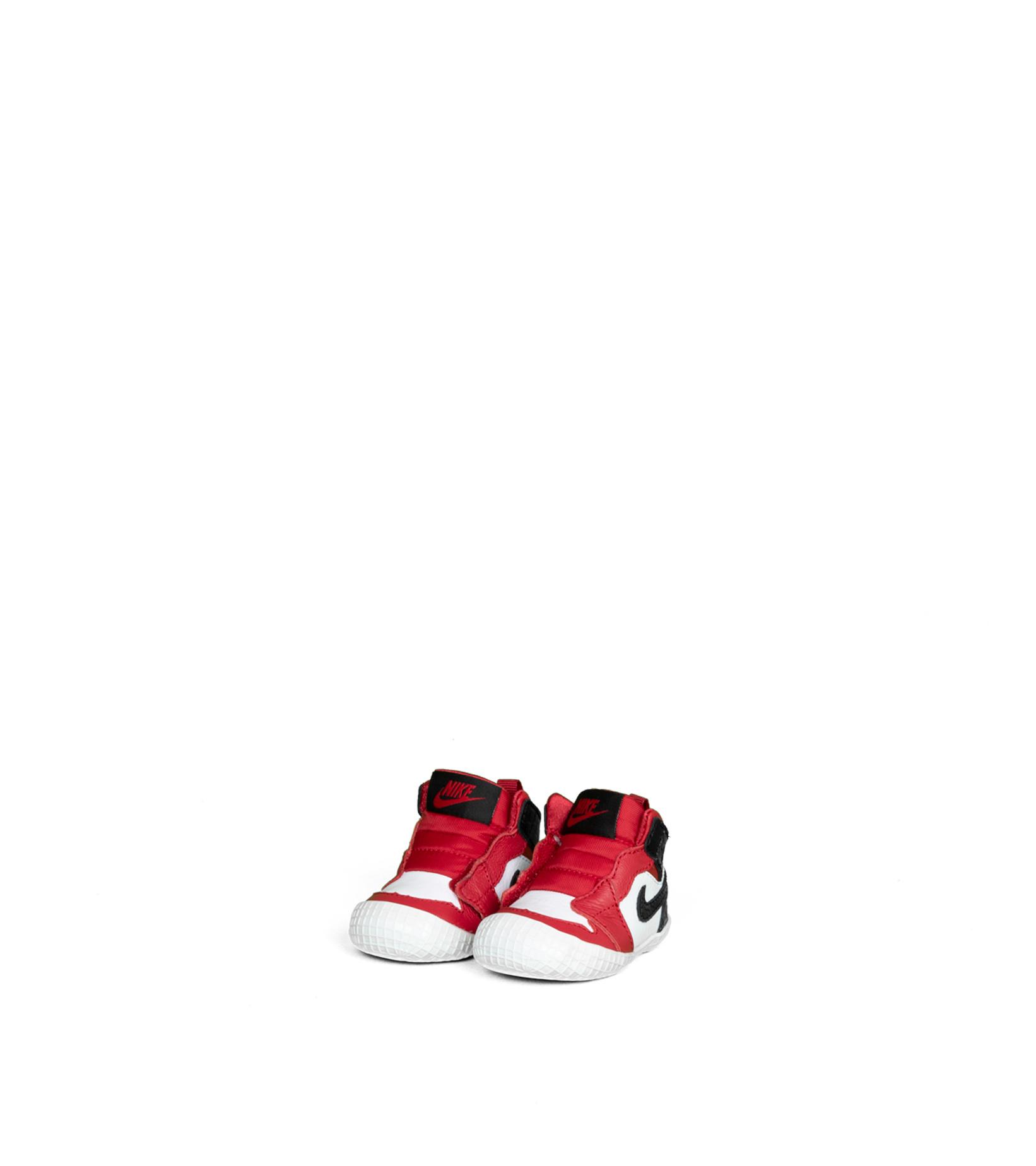 "1 Crib Bootie (TD)  ""Gym Red/Black""-1"
