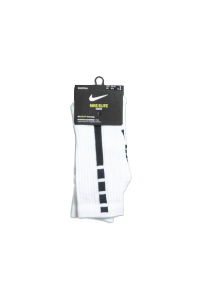 "Elite Crew Socks ""White/Black"""