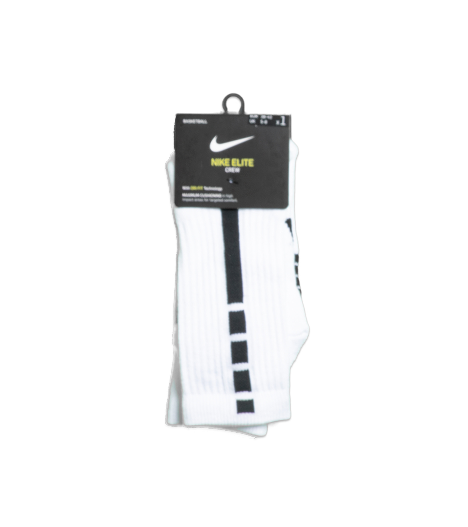 "Elite Crew Socks ""White/Black""-1"
