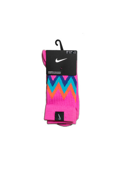 "SNKR Socks ""Active Fuchsia/Regency Purple"""