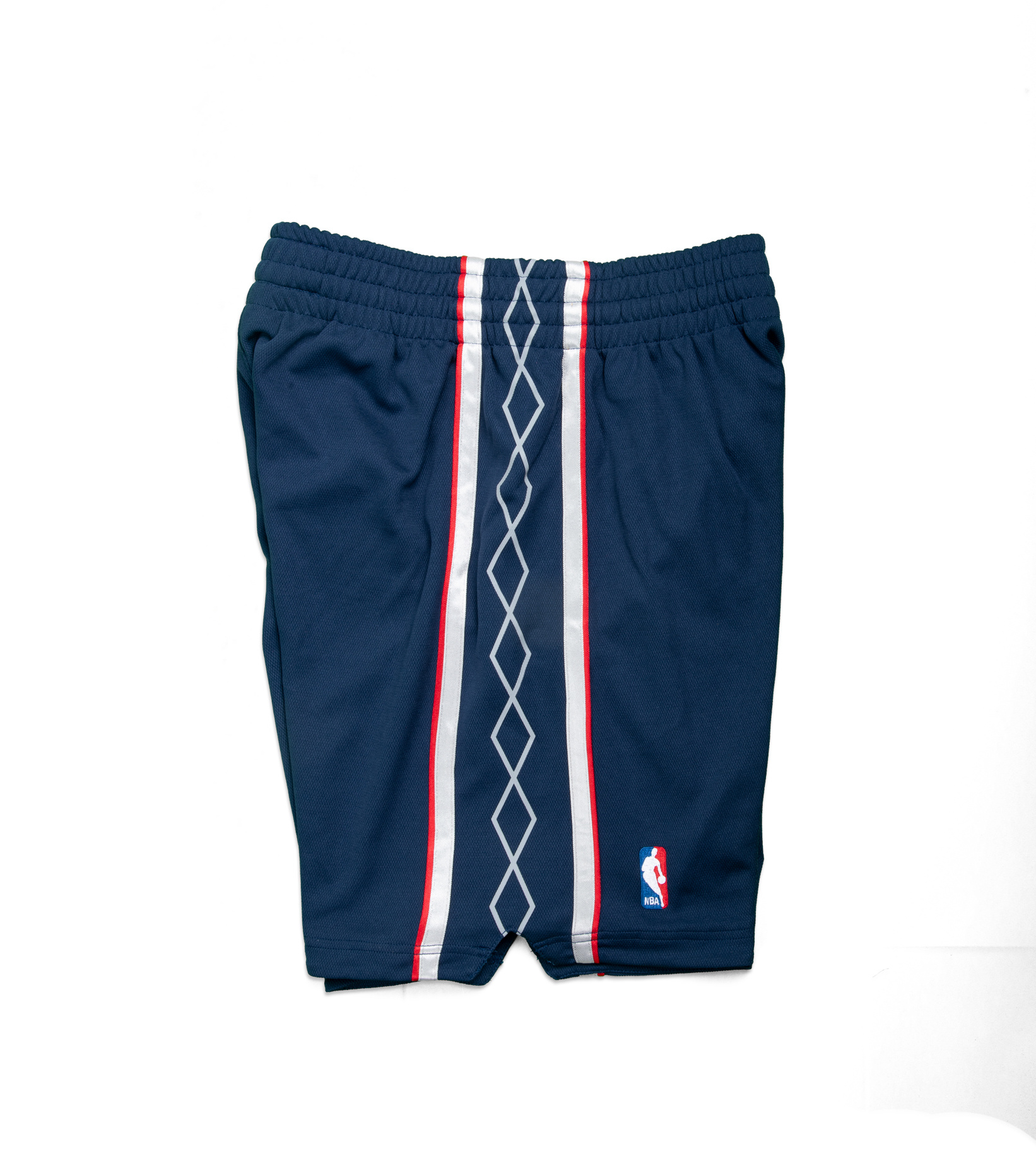 """New Jersey Nets '06-'07 Authentic Road Short """"Astros Blue""""-4"""