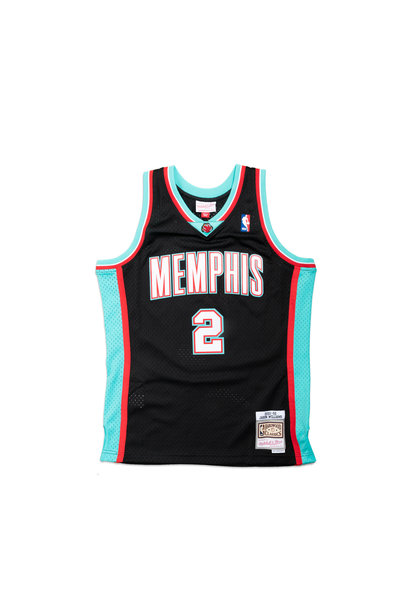 "Memphis Grizzlies '01-'02 J. Williams Swingman Jersey ""Black/Teal"""