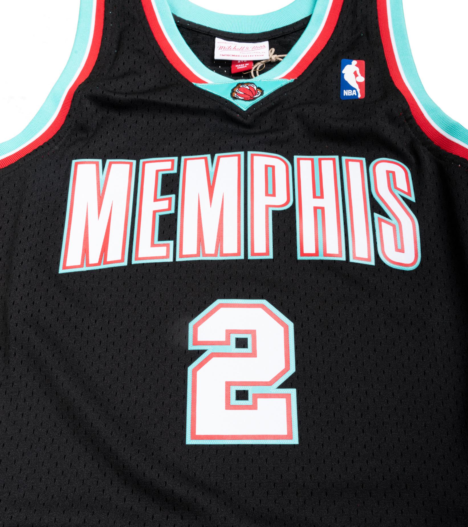 "Memphis Grizzlies '01-'02 J. Williams Swingman Jersey ""Black/Teal""-3"