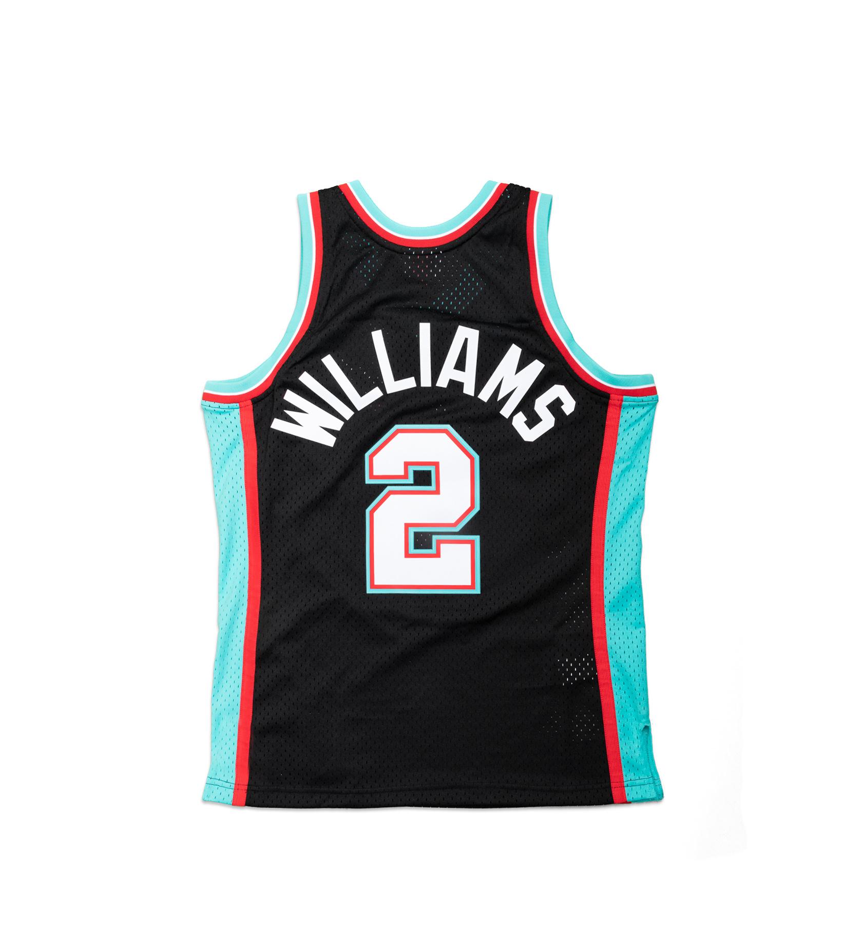"Memphis Grizzlies '01-'02 J. Williams Swingman Jersey ""Black/Teal""-4"