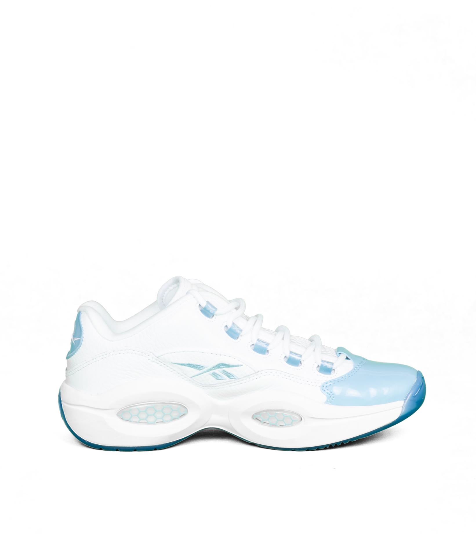"""Question Low Patent Toe """"White/Fluid Blue""""-4"""