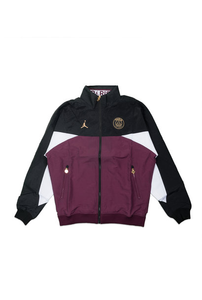 "PSG Anthem Jacket ""Black/Bordeaux"""