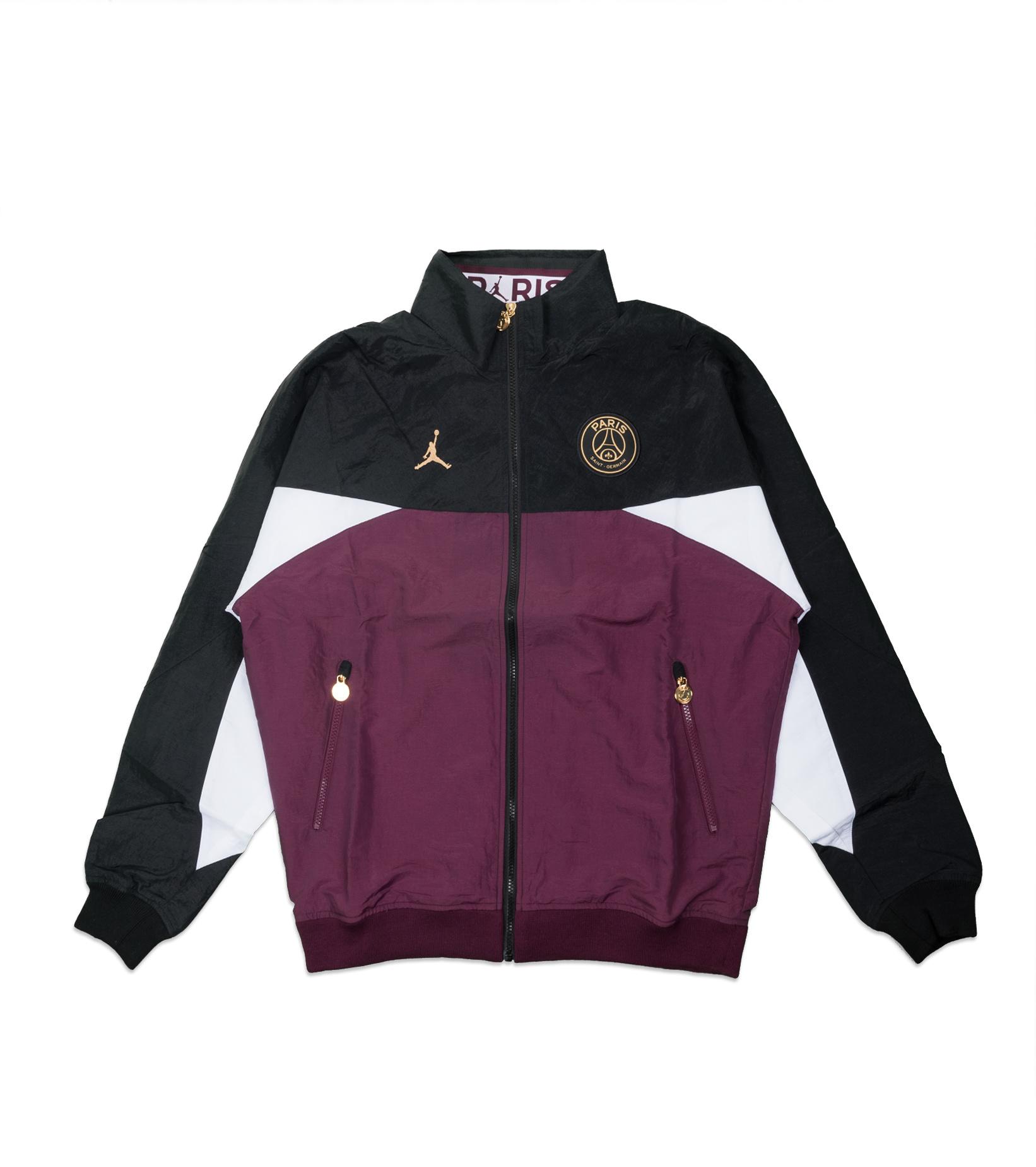 "PSG Anthem Jacket ""Black/Bordeaux""-1"
